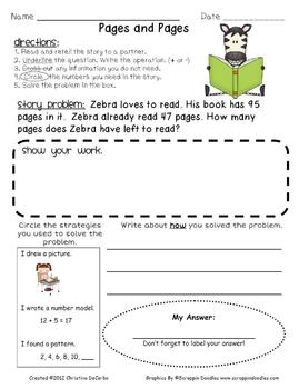 A Year of Story Problems for Math With Addition and Subtraction Regrouping