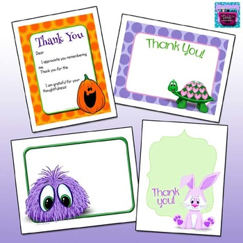 Thank you Cards (Blank & Fill-in-the-Blank)