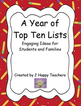 A Year of Top Ten Lists: Engaging Ideas for Students and Families