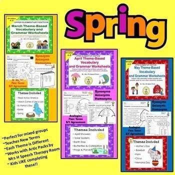 A Year of Upper Elementary Theme Based Vocabulary & Language