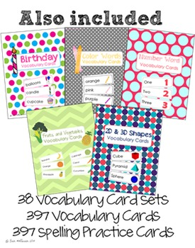 A Year of Vocabulary Cards