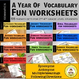 Speech and Language Therapy  Vocabulary Full Year Bundle