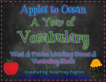 A Year of Vocabulary - Matching Pictures and Words