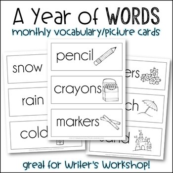 #helpnorcal A Year of Words {Monthly Vocabulary}