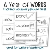 A Year of Words {Monthly Vocabulary}