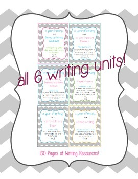 A Year of Writing: Common Core Aligned Writing Projects BUNDLE! Grade 2