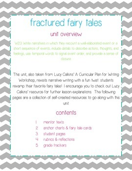 Narrative Writing: Fractured Fairy Tales (A Year of Writing Unit 5)
