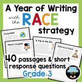 RACE Strategy Writing 3rd Grade 40 Prompts and Passages fo
