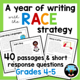 RACE Strategy 40 Prompts and Passages for All Year Grades 4-5