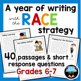 A Year of Writing with the RACE Strategy Grades 6-7: 40 passages and questions