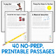 RACE Strategy Writing 40 Prompts and Passages for All Year Grades 6-7