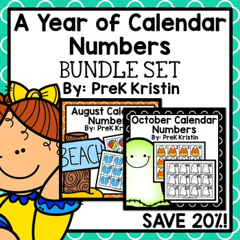 A Year's Worth of Calendar Numbers: Bundle Set
