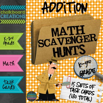 A Year's Worth of Math Scavenger Hunts: Basic Addition Facts