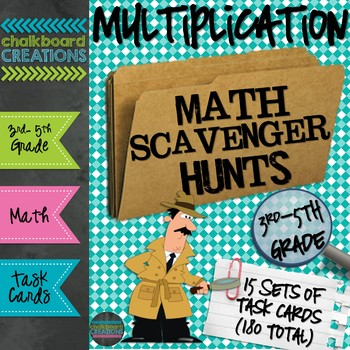 A Year's Worth of Math Scavenger Hunts: Basic Multiplication Facts