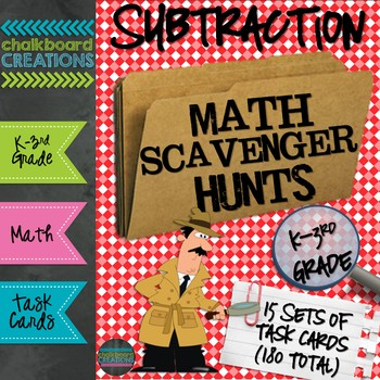 A Year's Worth of Math Scavenger Hunts: Basic Subtraction Facts