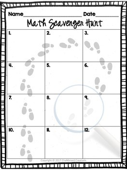 A Year's Worth of Math Scavenger Hunts: Common Core Aligned for 3rd Grade