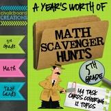 A Year's Worth of Math Scavenger Hunts: Common Core Aligne