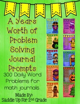A Year's Worth of Problem Solving Journal Prompts Bundle