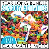 A Year's Worth of  Sensory Table - Sensory Bin Fun BUNDLE - Distance Learning