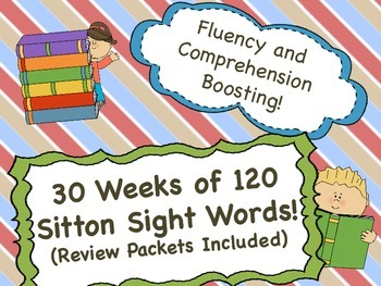 A Year's Worth of Sitton Sight Word Practice / Review - Printable, Kid Friendly!