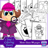 Coloring Sheets for the Year!