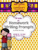 Homework Writing Prompts- A Year of Narrative and Expository Prompts