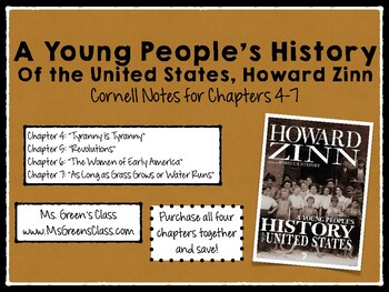 A Young People's History of the United States: Chapters 4-7 Cornell Notes