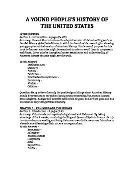 A Young People's History of the United States Study Guide Free Preview