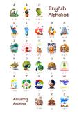 ❤ A-Z ABC amusing animals. English animals alphabet. New C