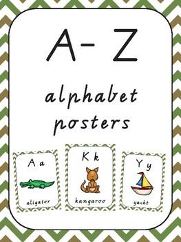 A-Z ALPHABET POSTERS CHEVRON