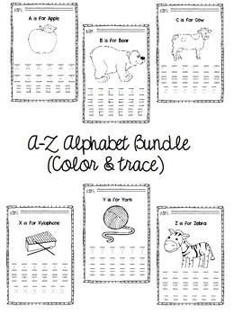 A-Z Alphabet Bundle (Color & trace)