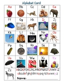 A-Z Alphabet Card with Images