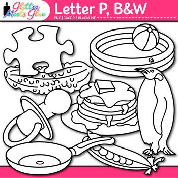 A - Z Alphabet Clip Art Bundle {Great for Letter Recognition and Phonics} B&W