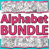 A - Z Alphabet Clip Art Bundle {Great for Letter Recogniti