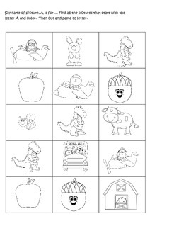 A-Z Alphabet Glue and paste worksheets