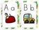 A-Z Alphabet Line Posters 5x7 Block Letter Cactus Theme