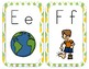 A-Z Alphabet Line Posters 5x7 Block Letter Cute Pineapple Theme
