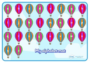 A-Z Alphabet Mat (Phase 1) on Hot Air Balloons
