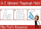 A-Z Alphabet Playdough Mats