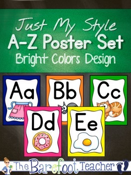 Alphabet Poster Set - Bright Colors Design