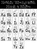 A-Z Alphabet Posters- Brights Colors and Black & White