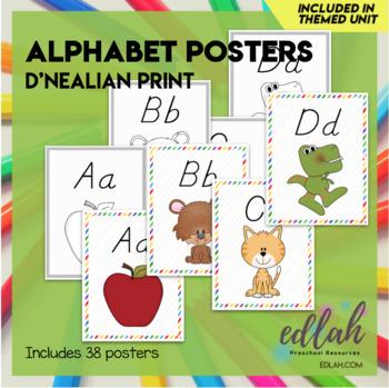"A-Z Alphabet Posters-D'Nealian 8.5""x11"""