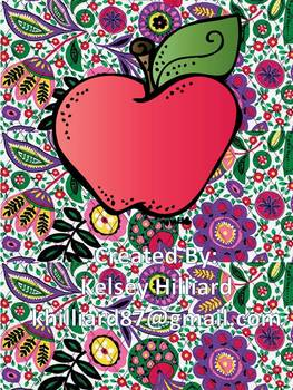 Alphabet Posters (Lilly Pulitzer Design ) (flower floral)