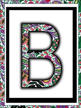 Alphabet Posters (Lilly Pulitzer Design ) (flower floral) classroom decor