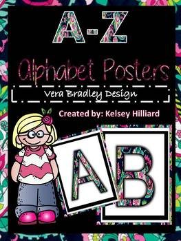 Alphabet Posters for classroom in Vera Bradley Design