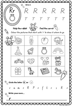 A-Z Alphabet Recognition Printables and Beginning Sound Work