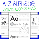 A-Z Alphabet Tracing Worksheets