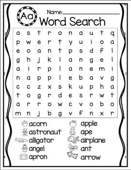 A-Z Alphabet Word Search