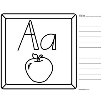 A-Z Alphabet Writing (and sorting)