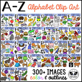 Alphabet Clip Art and Beginning Sounds A-Z Clipart Bundle